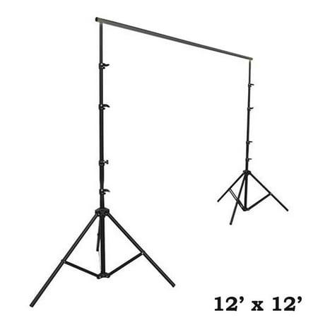 BalsaCircle Black 12 ft x 12 ft Large Photo Backdrop Stand Kit - Studio Background - Wedding Party Photo Booth Studio Decorations - Photo Booth Backdrop Stand