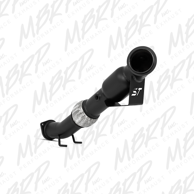 MBRP 13-14 Ford Focus ST 2.0L Ecoboost Black 3in Down Pipe w/ Cat