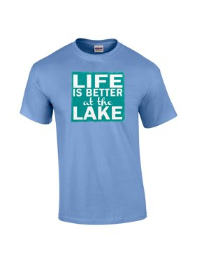 34b7915f Product Image Life Is Better At The Lake Square Outdoor Adult T-Shirt. Trenz  Shirt Company