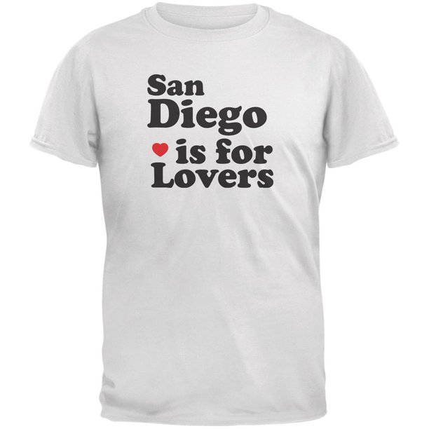 San Diego Is For Lovers White Adult T-Shirt - X-Large