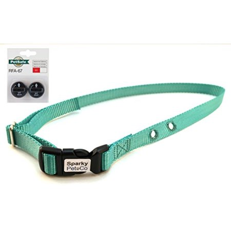 Sparky PetCo '' Replacement Collar with PetSafe RFA-529 Accessory Pack for Fencing Receiver Collars, Teal
