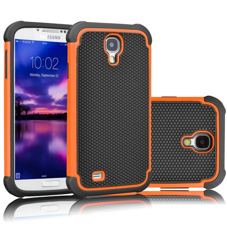 Galaxy S4 Case Samsung Cover Tekcoo Tmajor Series Shock Absorbing Hybrid Rubber Plastic Impact Defender Rugged Slim Hard S For