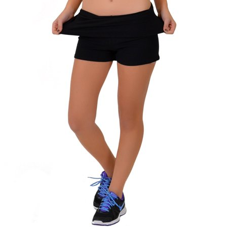 Women's and Girl's Teamwear Foldover Yoga Shorts | Child Size 4 to Adult 3X | Made in the USA