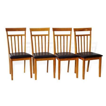 - SK New Interiors Set of 4 Dining Kitchen Warm Side Chairs Solid Wooden, Maple