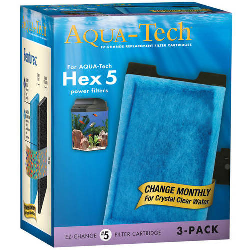 Aqua-Tech Ez-Change #5 Replacement Aquarium Filter Cartridges, 3 ct
