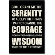 Awkward Styles Motivational Wall Art Inspirational Quotes God Grant Me Wall Art Religious Poster Serenity Christian Wisdom Wall Quotes Inspirational Wall Decor