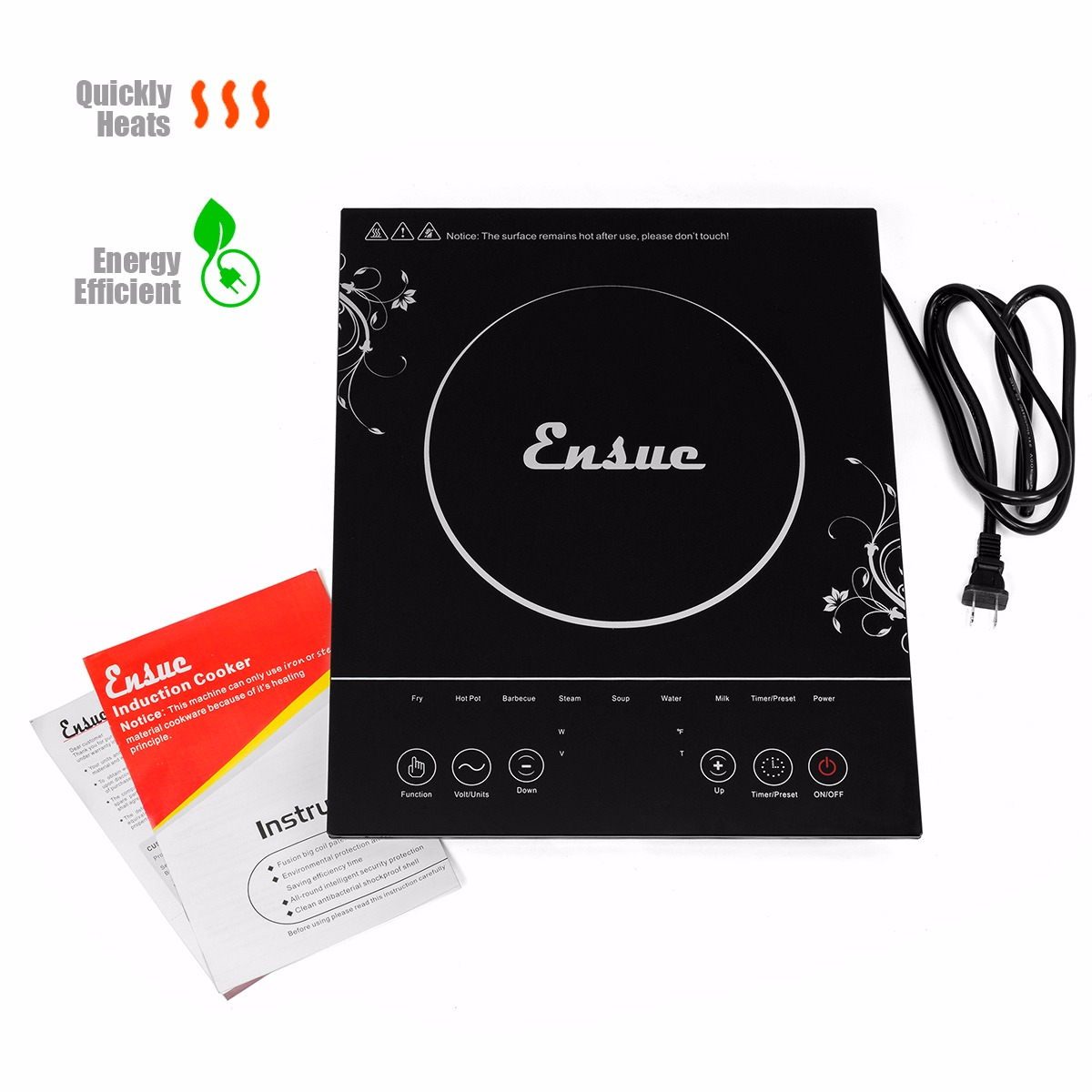 Electric Induction Cooktop Single Burner Heating Range ETL 1500W