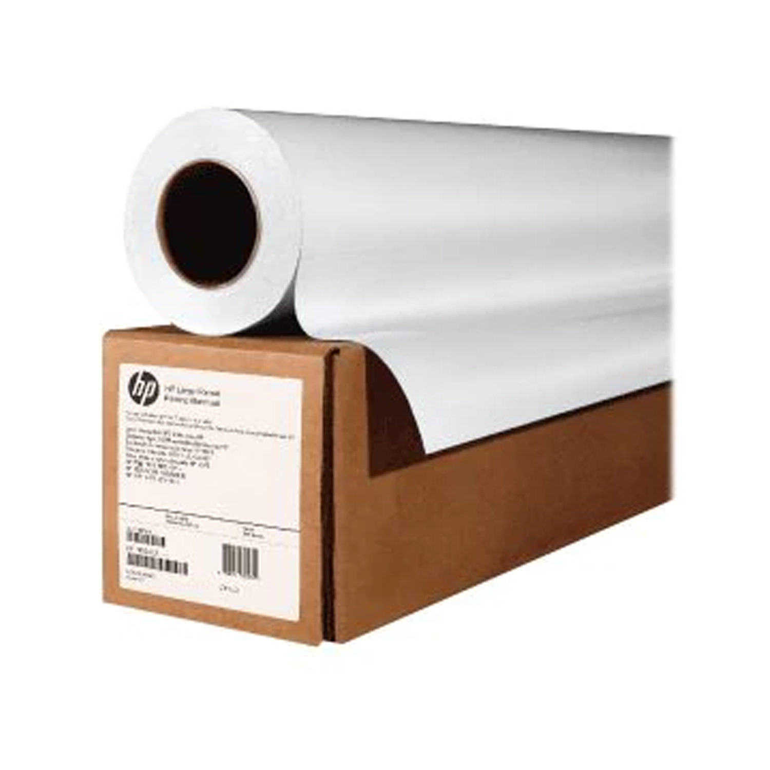 "HP Bright White Inkjet Paper, 3-in Core - 36""x500'"