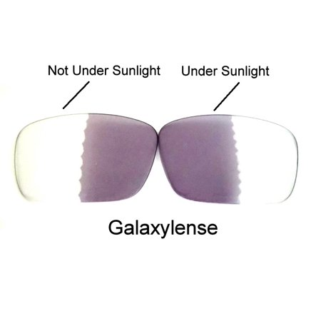 Galaxy Replacement Lenses for Oakley Fuel Cell Photochromic Transition Change To Darker Grey Color