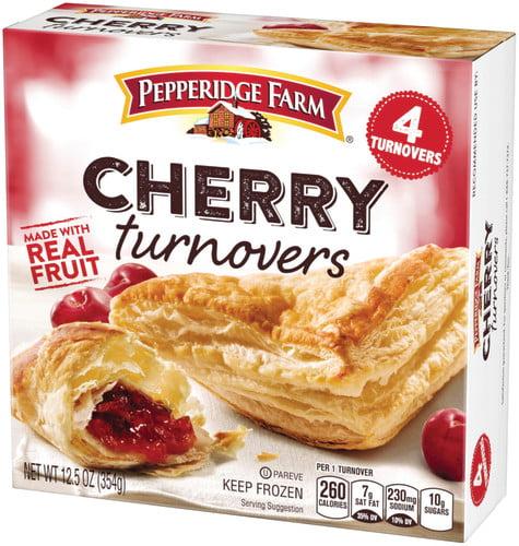 Pepperidge Farm Frozen Cherry Turnovers Pastries, 12.5 oz. Box, 4-pack