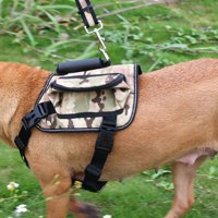 ONDOING Authorized Dog Pet Backpack Carrier Bag Holder for Dog Outdoor Travel Camping Green Camo, L