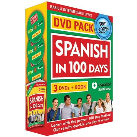 Spanish in 100 Days DVD PK / Spanish in 100 days DVD Pack - Items In Spanish