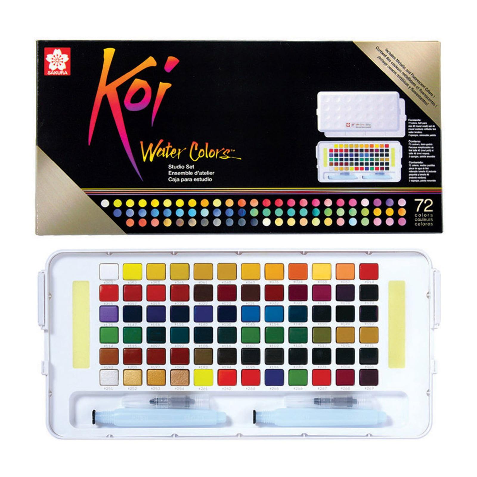 Sakura Koi Watercolors Studio Sketch Box Set, 72-Colors