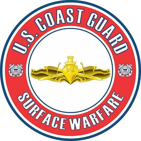 US Coast Guard Surface Warfare Officer Badge 5.5 Inch Decal