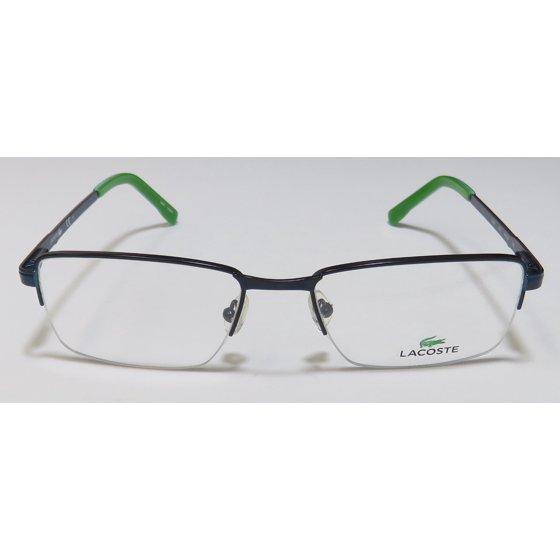 a4c4c3f3bc04 New Lacoste 2203 Mens Designer Half-Rim Khaki   Green   Yellow Frame Demo  Lenses 54-18-145 Spring Hinges Eyeglasses Eye Glasses - Walmart.com