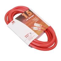 15-Ft 10 Gauge Extension Cord Indoor/Outdoor Lit Ends UL Orange