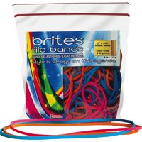 Alliance, Brites File Bands, Assorted Sizes & Colors, 4oz. Resealable Bag