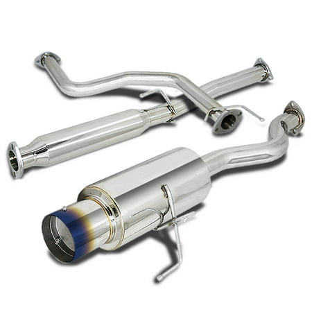 "For 1992 to 1995 Honda Civic Catback Exhaust System 4.5"" Burn Tip Muffler - 3 Door Hatchback EH 93 94"