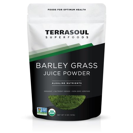 - Terrasoul Superfoods Organic Barley Grass Juice Powder, 5.0 Oz