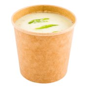 Large Soup Cup, Soup Container - 26 oz - Paper Soup Cup - Kraft - Disposable - Takeout Soup Container, To Go Soup Cup - 200ct