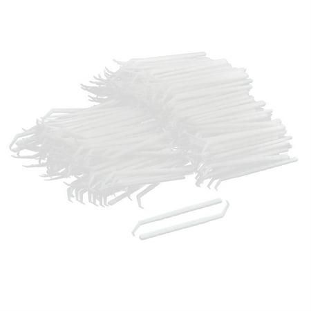 Household Plastic Teeth Cleaning Tool Curved Hook Toothpicks White 450 Pcs](Plastic Toothpicks)