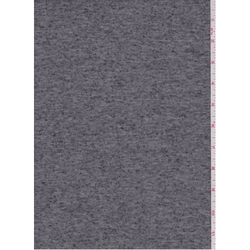 Heather Charcoal Jersey Knit, Fabric By the Yard