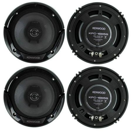 Kenwood KFC-1666S 6.5 Inch 300 Watt 2-Way Car Audio Door Coaxial Speakers - 4 Speakers ()
