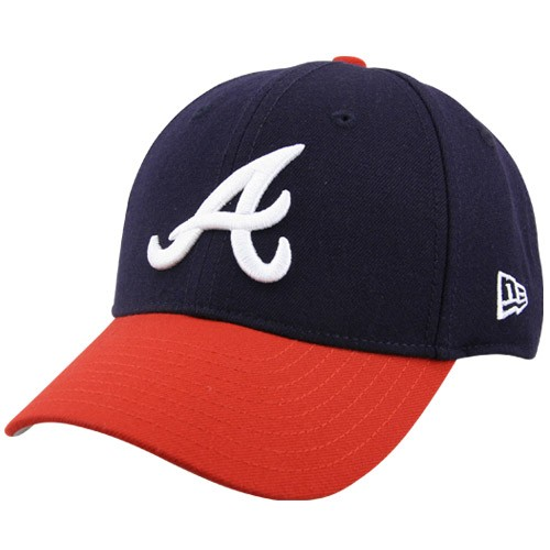 Atlanta Braves New Era Youth The League 9Forty Adjustable Hat - Navy - No Size