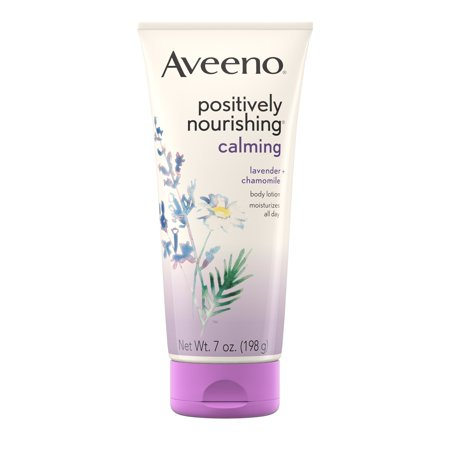 Aveeno Positively Nourishing Calming Lavender Body Lotion, 7 (Best Body Lotion To Prevent Stretch Marks)