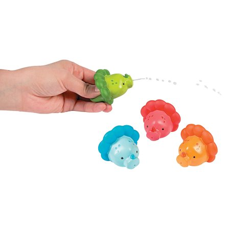Fun Express - Little Dino Squirts for Birthday - Toys - Active Play - Water Toys - Birthday - 12 (Best Little Kids Fun Express Bubble Solutions)