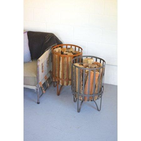GwG Outlet Metal Log Basket - Rustic