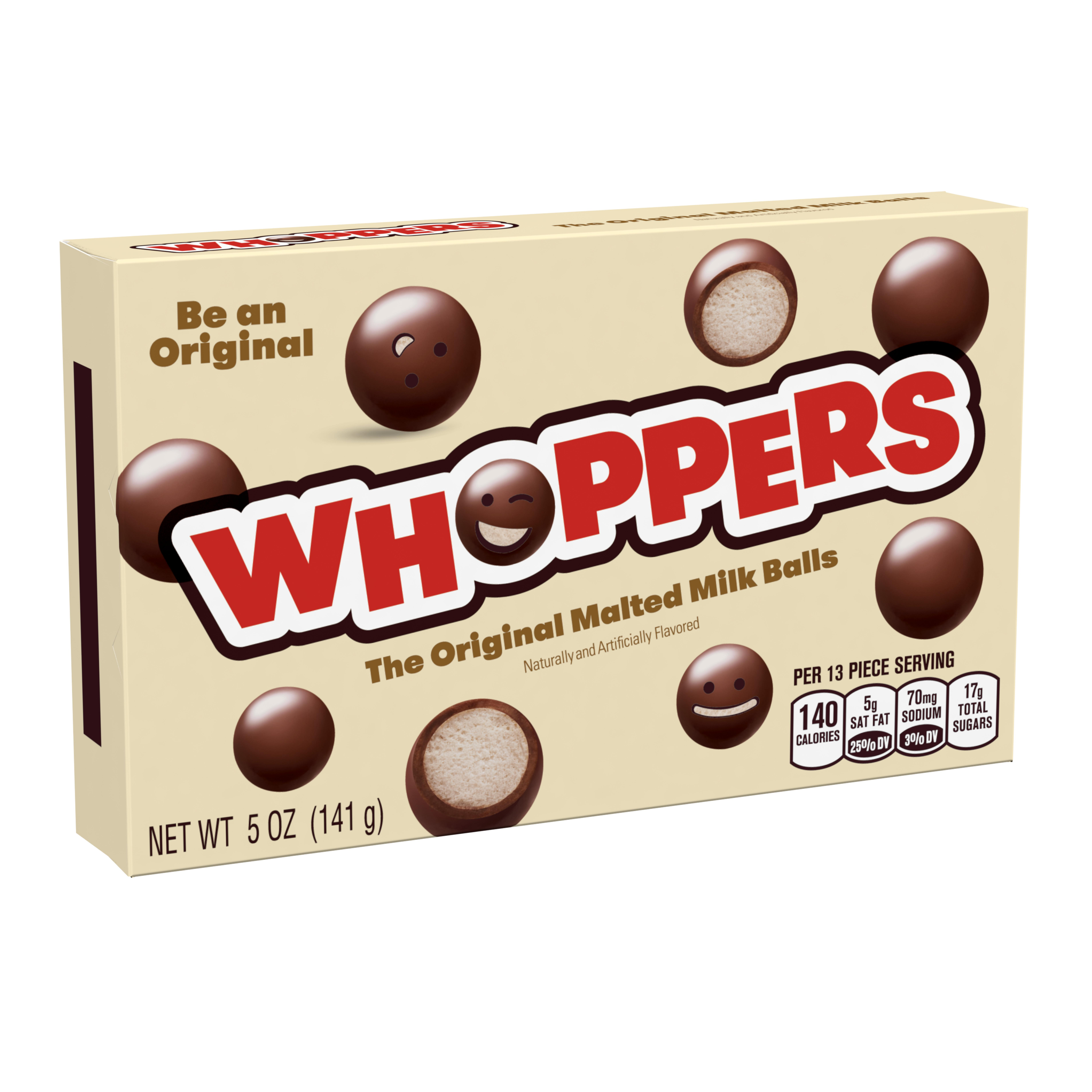 Whoppers, Malted Milk Balls Chocolate Candy, 5 Oz
