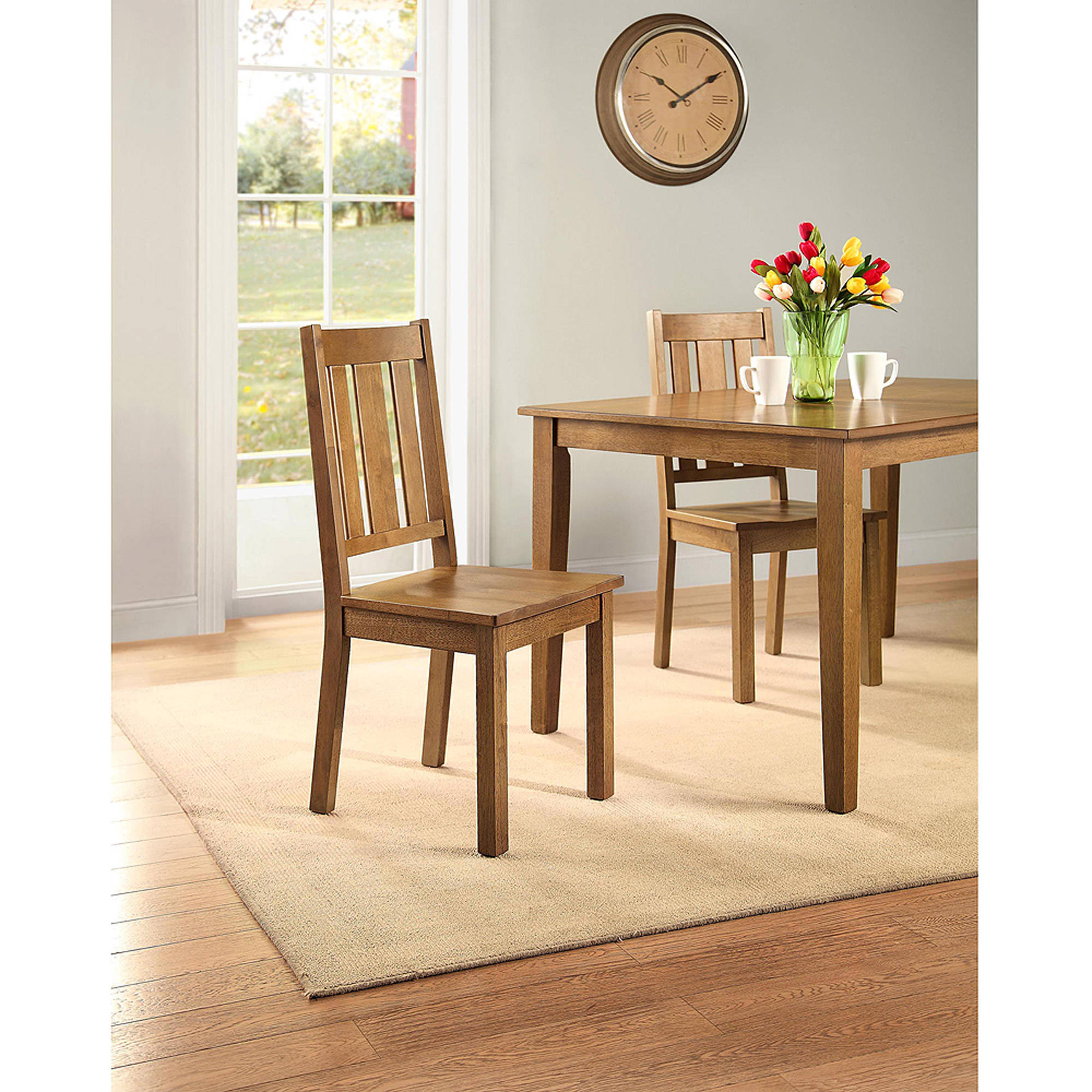 Better Homes and Gardens Bankston Dining Chair, Set of 2, Honey by