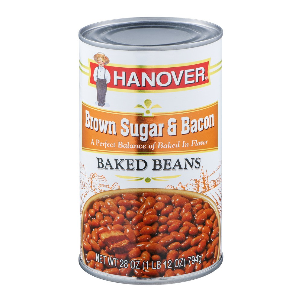 Hanover Baked Beans Brown Sugar & Bacon, 28 Oz