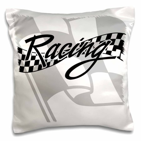 3drose Racing Black And White Checkered Flag Pillow Case 16 By 16