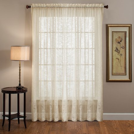 Curtains Ideas cheap lace curtain panels : Kristen Lace Curtain Panel, Set of 2 - Walmart.com