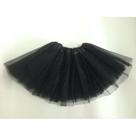 Brown Tutu For Adults (Pretty Women Girl Elastic Stretchy Tulle Dress Adult Tutu 3 Layer mini)