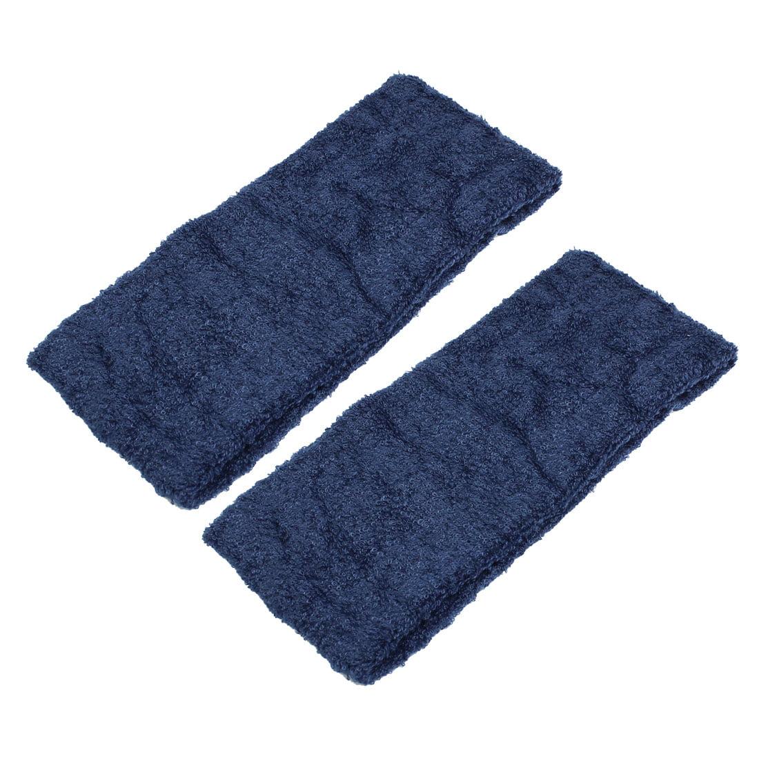2PCS Athletic Sports Washable Head Band Elastic Headband Hair Holder Dark Blue