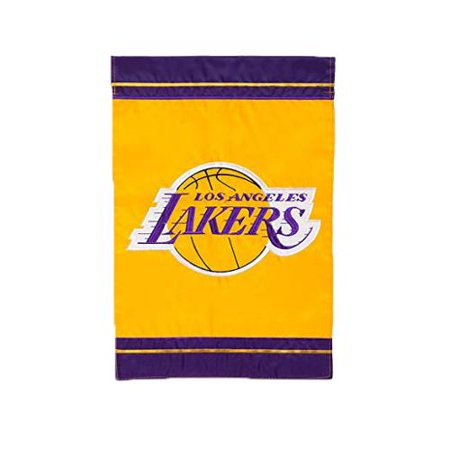 Los Angeles Lakers Official NBA 12.5 inch x 18 inch Applique Garden Flag by Evergreen
