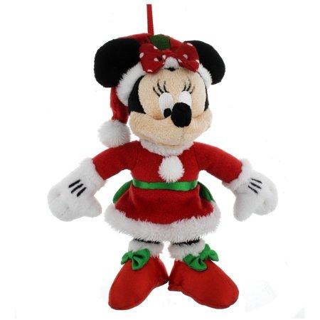 disney parks christmas ornament santa minnie mouse plush new with - Mouse Christmas Ornaments