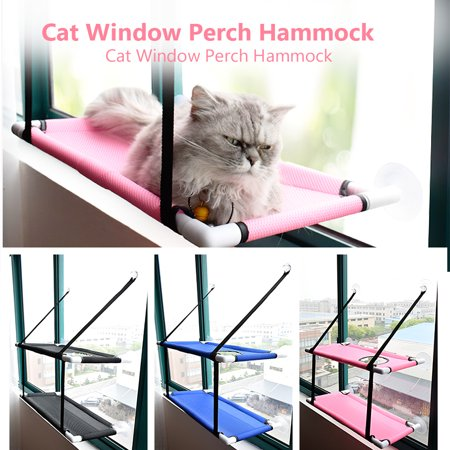 Image of Cat Window Perch Hammock Mesh Bed Double Deck Window Suction Cups Seat Summer Cooling Hammock Bed