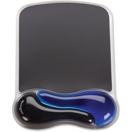 Kensington, KMW62401, Duo Gel Wave Mouse Pad Wrist Pillow, 1, Black & (Best Kensington Computer Pads)