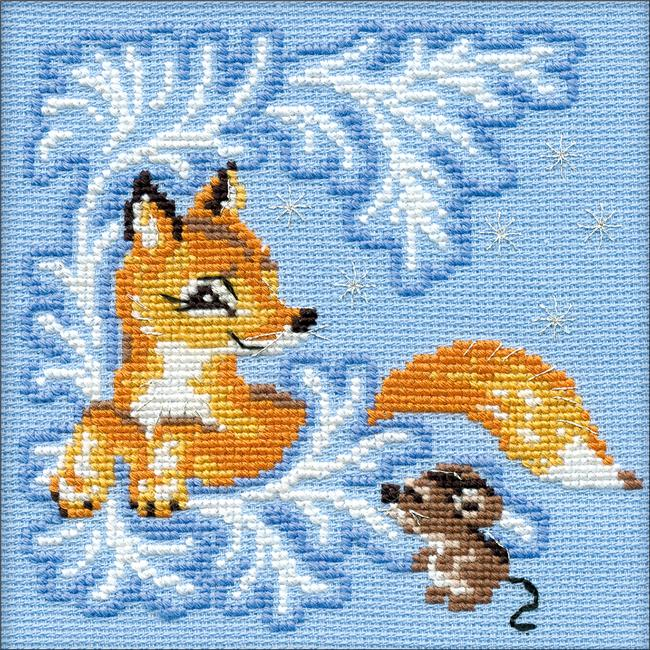 Fox Club Counted Cross Stitch Kit - image 1 of 1
