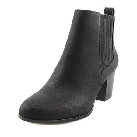 Womens Black Booties (INC International Concepts Fainn Women  Round Toe Synthetic Black)