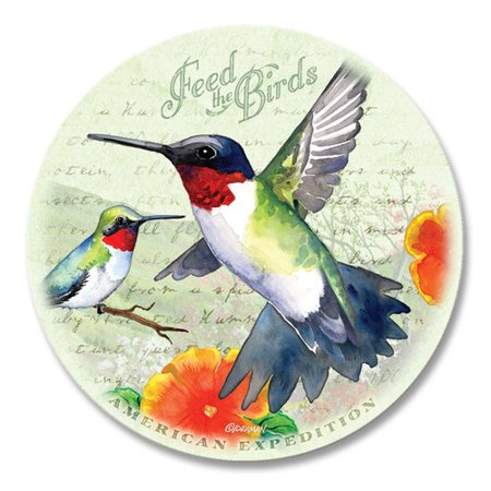 Image of American Expedition AMECTST231 Hummingbird Postcard Coasters - Set Of 4