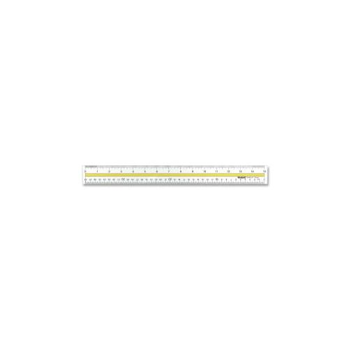 Flexible Ruler, Nonmagnetic, Acrylic, 15, Clear
