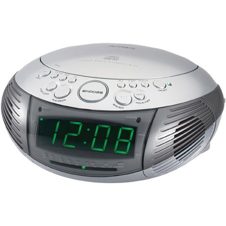 jensen jcr 332 am fm dual alarm clock radio with top loading cd player. Black Bedroom Furniture Sets. Home Design Ideas