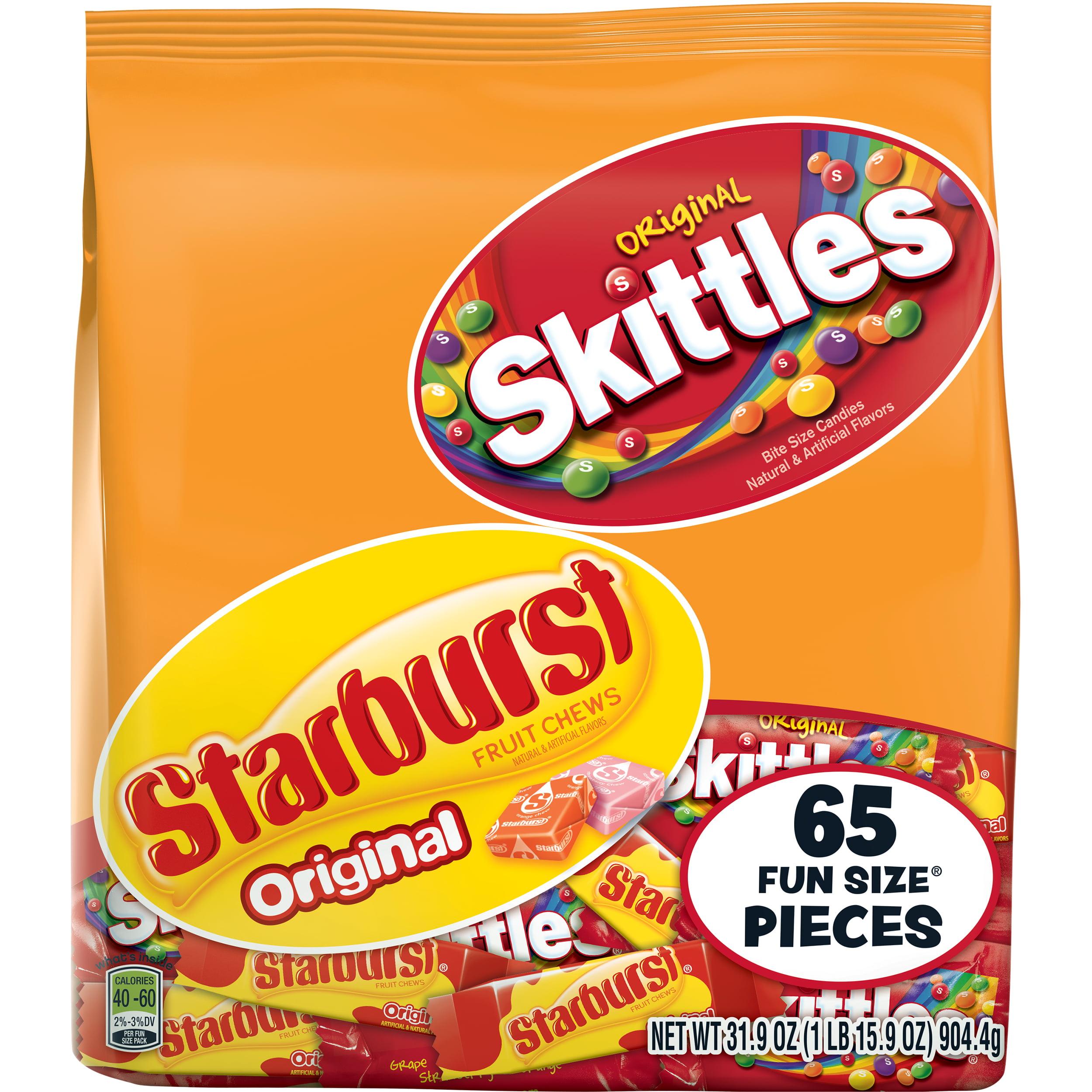 Skittles & Starburst, Fun Size Candy, 31.9 Oz, 65 Ct
