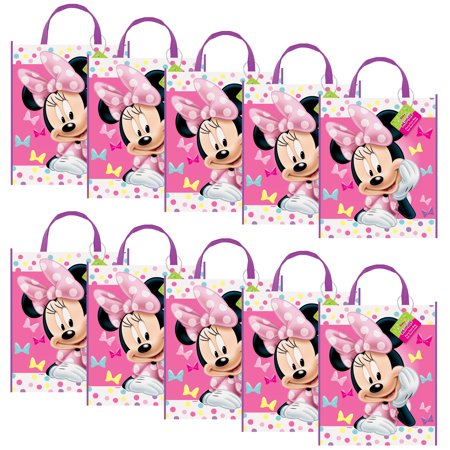 Minnie Mouse Party Tote Bag (Set Of 10) - Party Supplies