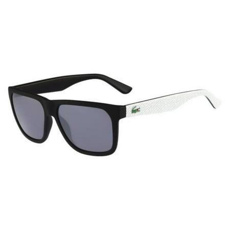 lacoste l732s wayfarer sunglasses, black/grey, 56 (Lacoste Wayfarer Sunglasses)